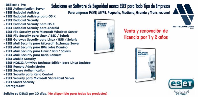 Soluciones en Software de Seguridad marca ESET para Todo Tipo de Empresas.