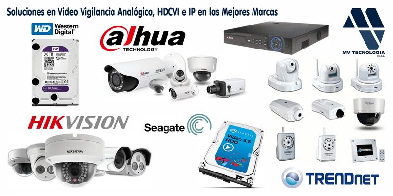 Soluciones en Video Vigilancia Analógica, HDCVI e IP en las Mejores Marcas.