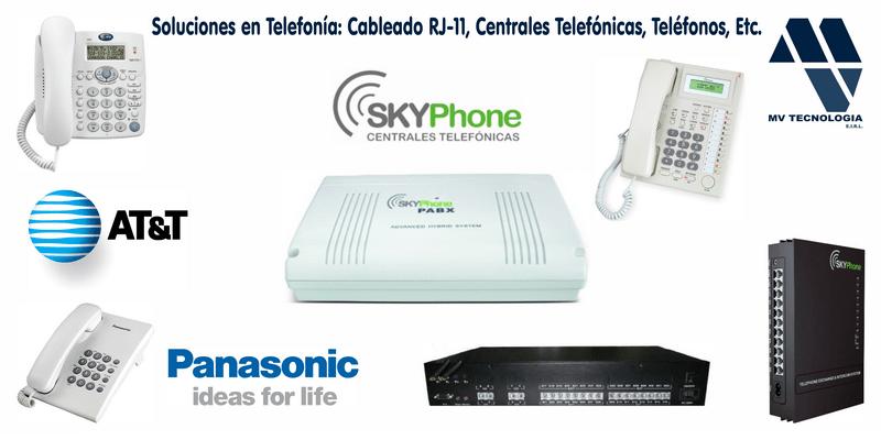 Soluciones en Telefonía: Cableado RJ-11, Centrales Telefónicas, Teléfonos, Etc.